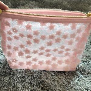 Handbags - Clear/floral makeup bag